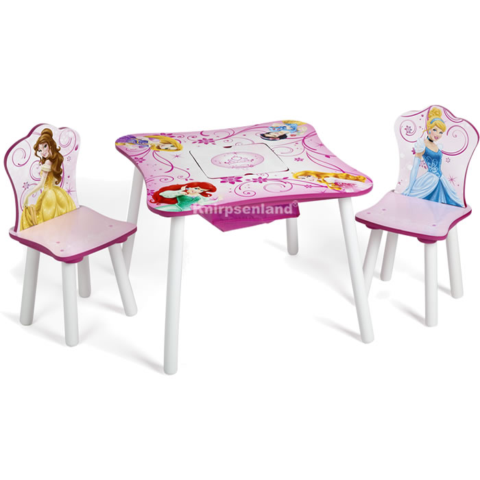 disney princess kindersitzgruppe ablagefach kinder tisch stuhl kinderm bel ebay. Black Bedroom Furniture Sets. Home Design Ideas