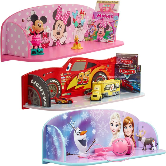 disney spielzeugregal b cherregal wandregal kinder regal kinderm bel cars frozen ebay. Black Bedroom Furniture Sets. Home Design Ideas