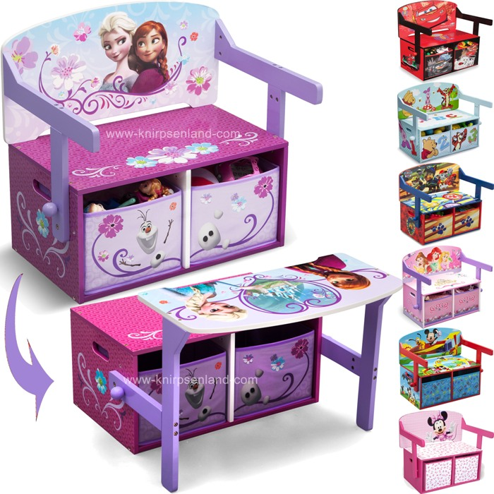 disney 3 in 1 kinder sitzbank spielzeugkiste kinderm bel truhe holz kinderbank ebay. Black Bedroom Furniture Sets. Home Design Ideas