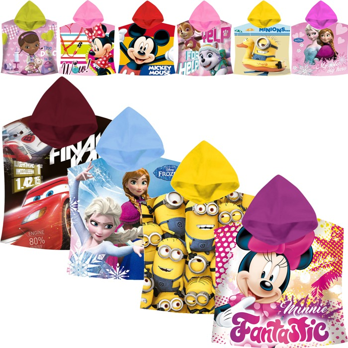 disney poncho badeponcho handtuch badehandtuch baby kinder kaputzenhandtuch ebay. Black Bedroom Furniture Sets. Home Design Ideas