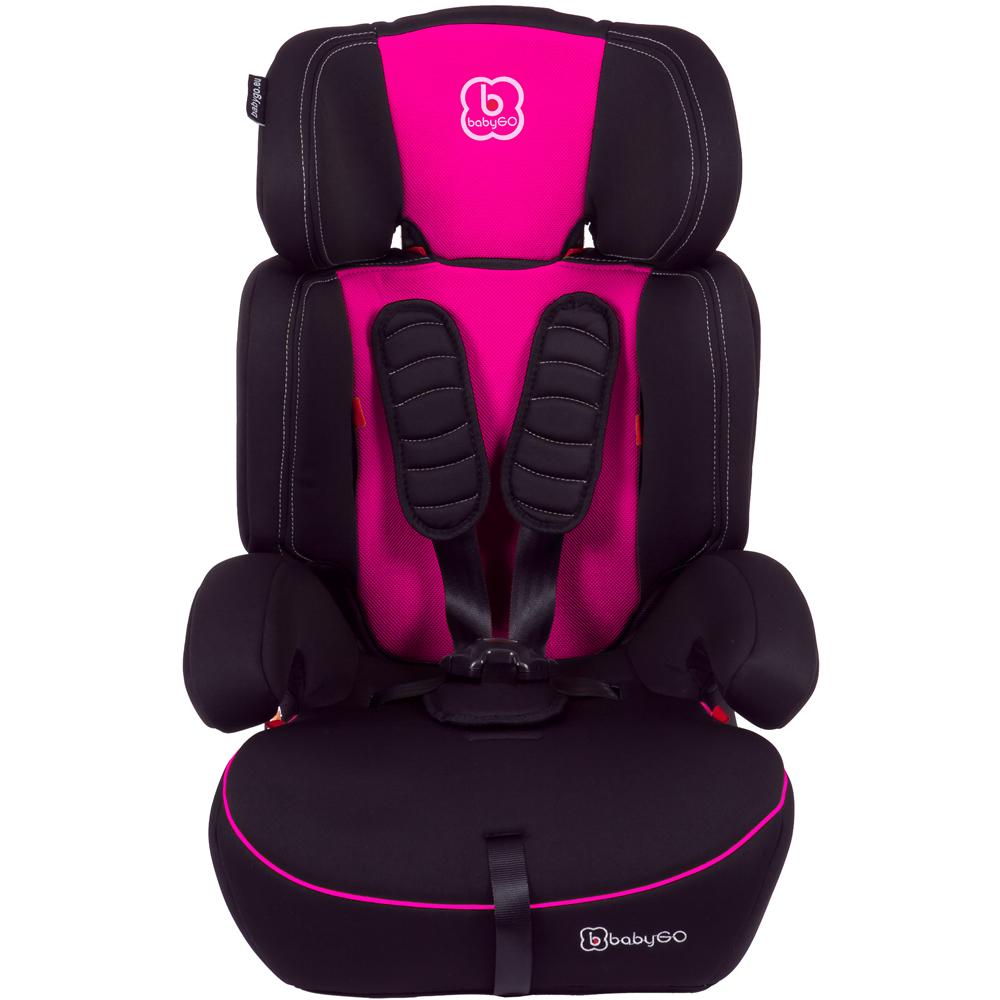 knirpsenland babyartikel auto kindersitz mit sitzverkleinerer 9 36 kg pink. Black Bedroom Furniture Sets. Home Design Ideas