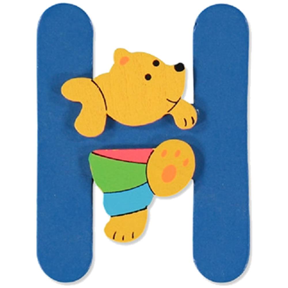 Holzbuchstaben Kinderzimmer Zum Aufstellen.Bieco Holzbuchstabe Bunt Deko Kinderzimmer Bär Holz