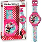 Minnie Mouse Kinder Wanduhr Disney