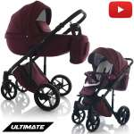 Knirpsenland Kombi Kinderwagen Ultimate Bordeaux